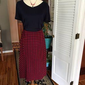 J JILL Classic Buffalo Plaid Skirt NWT Size L